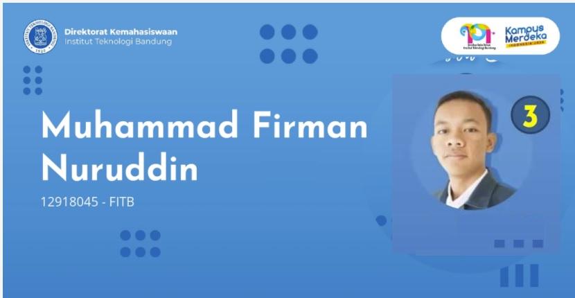 Muhammad Firman Nuruddin: Jadi Mapres ITB adalah Bentuk Pengenalan Diri