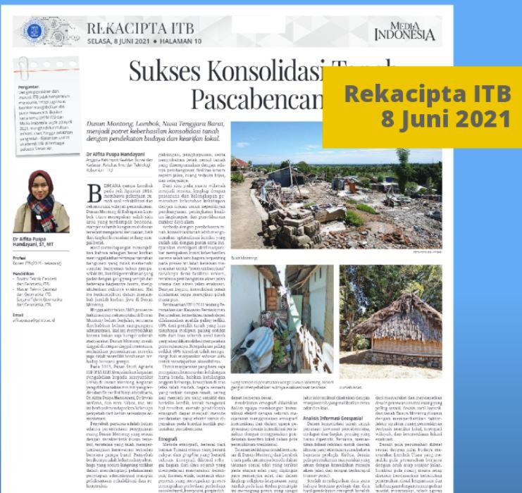 Geospasial, Etnografi dan Konsolidasi Tanah Pasca Bencana