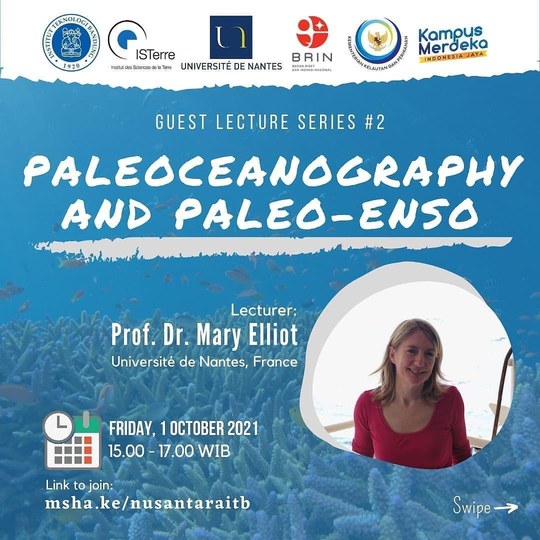 Paleoceanography and Paleo-ENSO  Guest Lecture : Prof. Dr. Mary Elliot (Université de Nantes, France)