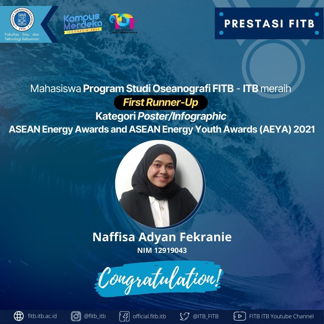 Mahasiswa Program Studi Oseanografi ITB meraih First Runner-Up di ASEAN Energy Awards and ASEAN ENERGY YOUTH AWARDS